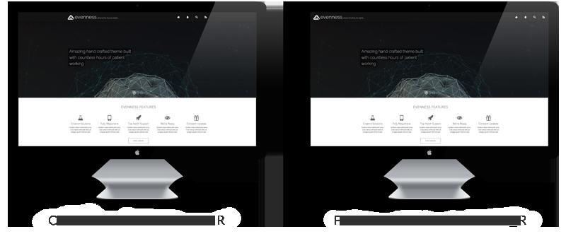 Centered & Fullwidth Header